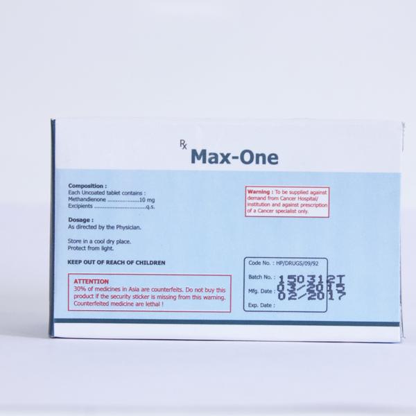 Max-One Méthandrosténolone Acheter En Ligne - Culturisme